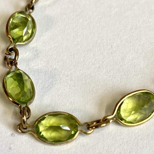 18ct Gold Plated over Silver and Peridot Bracelet image-4
