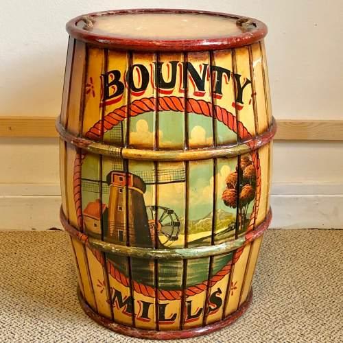 Bounty Mills Hand Painted Storage Barrel image-1