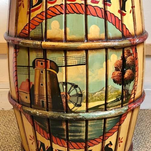 Bounty Mills Hand Painted Storage Barrel image-2