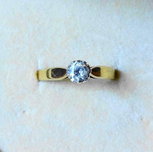 9ct Gold Solitaire Diamond Ring image-2