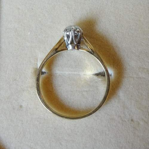 9ct Gold Solitaire Diamond Ring image-4