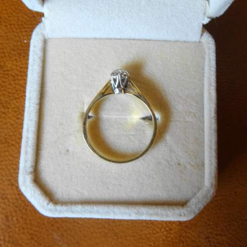 9ct Gold Solitaire Diamond Ring image-5