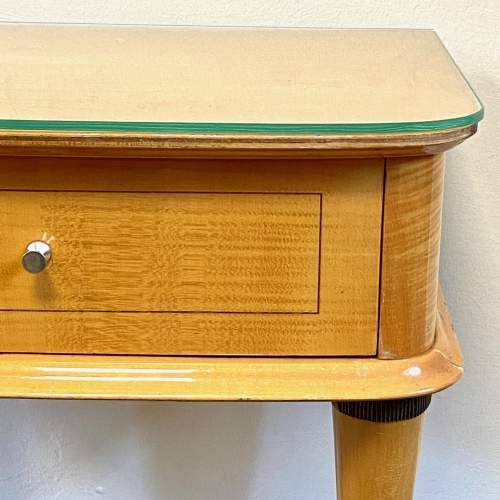 Pair of Mid Century Birds Eye Maple Bedside Cabinets image-4