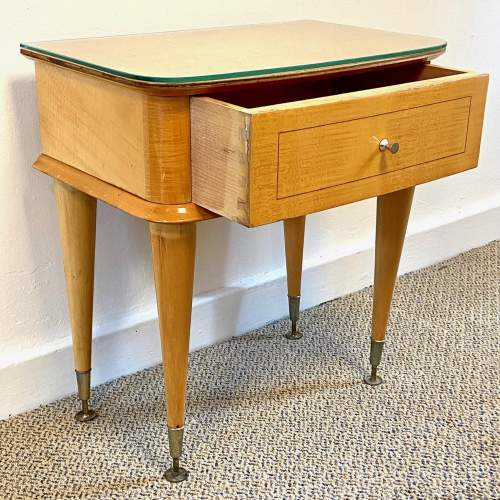Pair of Mid Century Birds Eye Maple Bedside Cabinets image-3