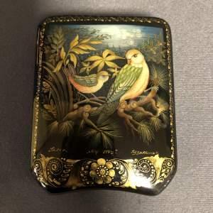Palekh Miniature Birds Rectangular Case