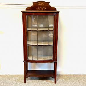 Edwardian Leaded Glass Mahogany Display Cabinet