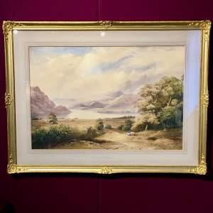 19th Century Henry Richardson Watercolour of Ullswater