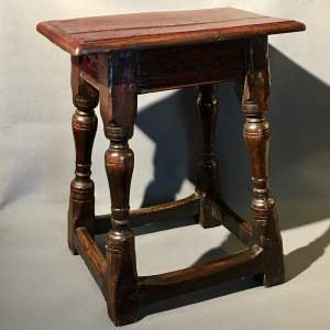 17th Century Oak Joint Stool