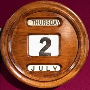 Early 20th Century Small Oak Cased Perpetual Calendar