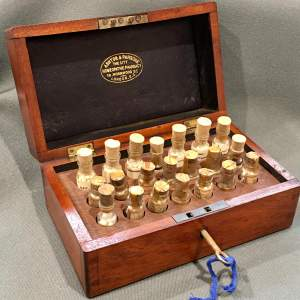 Late 19th Century Mahogany Homeopathy Box
