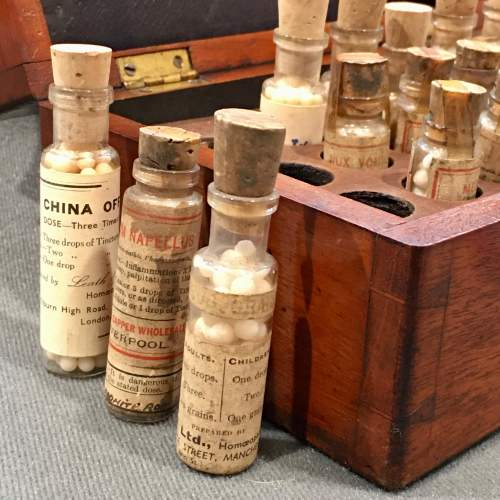 Late 19th Century Mahogany Homeopathy Box image-4