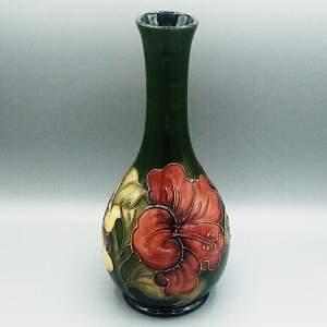 Moorcroft Hibiscus Stem Vase