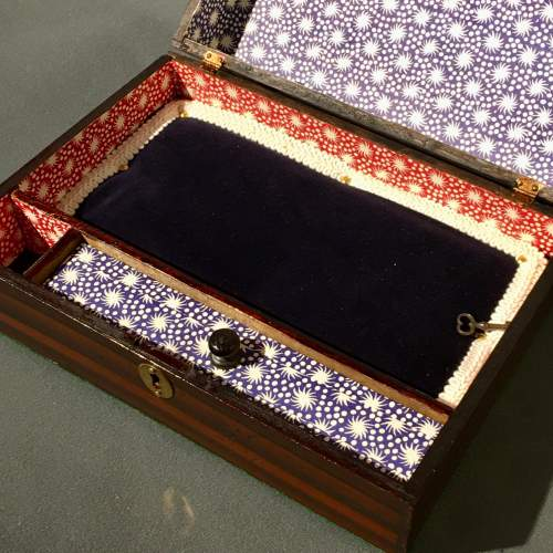 Victorian Simulated Rosewood Jewellery Casket image-5