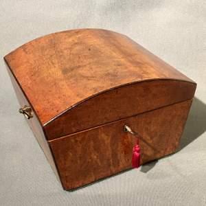 Regency Mahogany Jewellery Casket