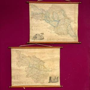 Pair of 19th Century North and East Riding of Yorkshire Maps