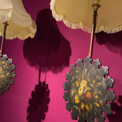 Pair of Late Regency Rosewood Polescreen Standard Lamps image-6