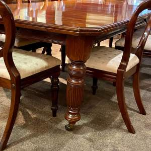 Victorian Mahogany Dining Table with Eight Balloon Back Chairs