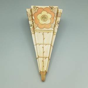 Charlotte Rhead Bursley Ware Wall Pocket Vase