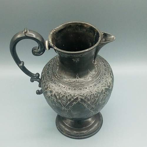 Early Pewter Pitcher image-1
