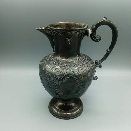 Early Pewter Pitcher image-3