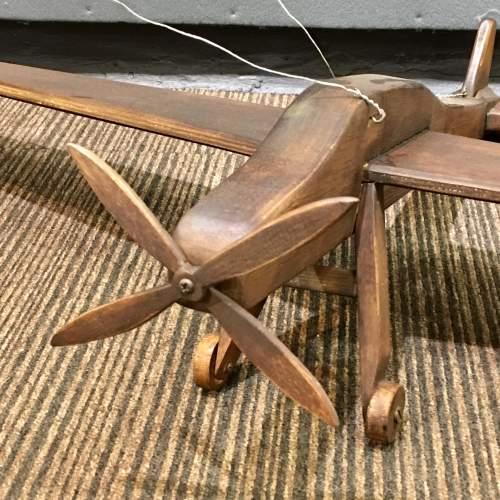 Large 20th Century Vintage Handmade Wooden Plane image-2