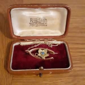 Victorian 9ct Gold Brooch In Original Box