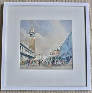 Original Watercolour Painting of Piazzetta San Marco by D.Crockett
