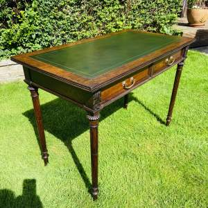 Regency Period Mahogany Library Writing Table