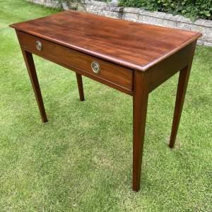 Edwardian Mahogany Single Drawer Side Table
