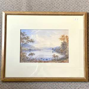 Watercolour of Coniston Lake by W.T Longmire