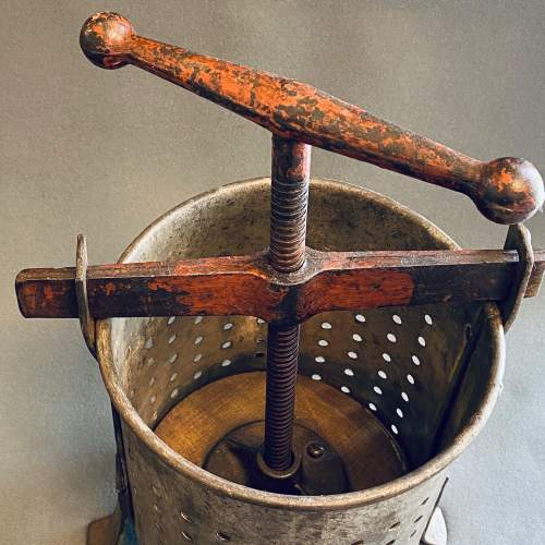 Early 20th Century Galvanised Tin and Cast Iron Fruit Press image-2