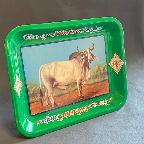 Vintage Nortena Rectangular Tin Beer Tray image-1