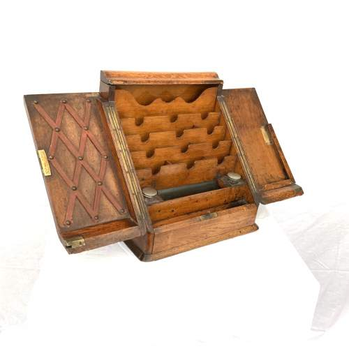 Edwardian Stationary Box With Glass Ink Wells image-1