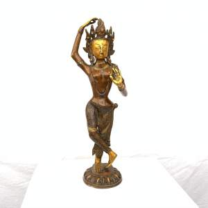 Oriental Bronze Figure of a Deity