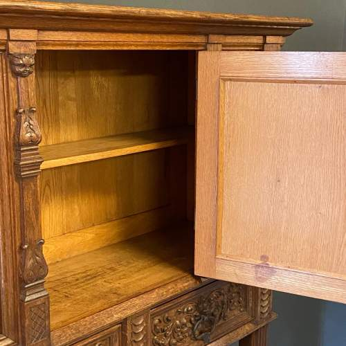 19th Century Carved Oak Credence Cupboard image-6