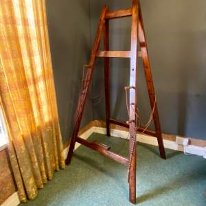 19th Century Wooden Folding Artists Easel