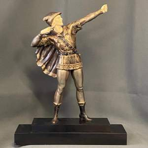1930s Bronze Figure of an Archer