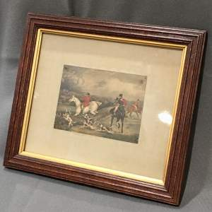 19th Century Framed Fox Hunting Print