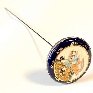 19th Century Large Japanese Satsuma Hat Pin