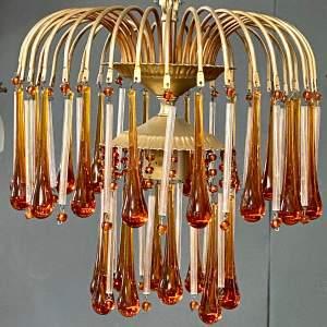 Amber Rain Ceiling Light