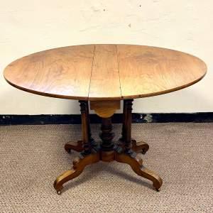 19th Century Walnut Sutherland Drop Leaf Table