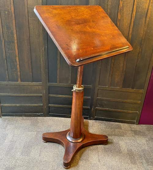 Georgian Mahogany Telescopic Library Table or Music Stand image-1
