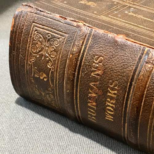 19th Century Leather Bound Book of Bunyans Works image-2