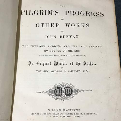 19th Century Leather Bound Book of Bunyans Works image-3