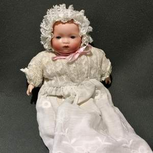 Late 19th Century Bisque Porcelain Baby Doll