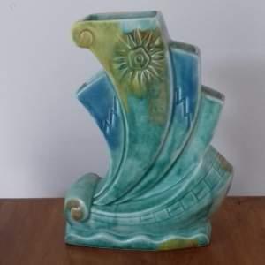 Art Deco Beswick Galleon Vase