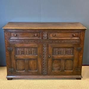 Early 20th Century English Oak Buffet Sideboard