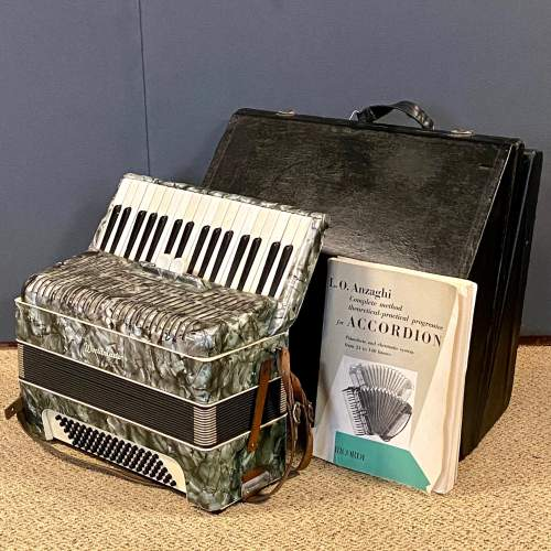 World Master Accordian and Case image-1