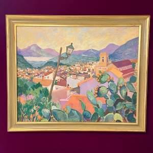 20th Century Olwen Tarrant Oil on Canvas