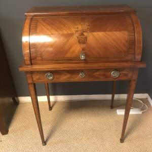 A Beautiful French Roll Top Cylinder Ladies Desk